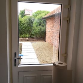 White Door In A Cream Frame